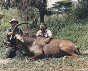 SCI Member Tony Williams with his Record Book Zambian Roan antelope.